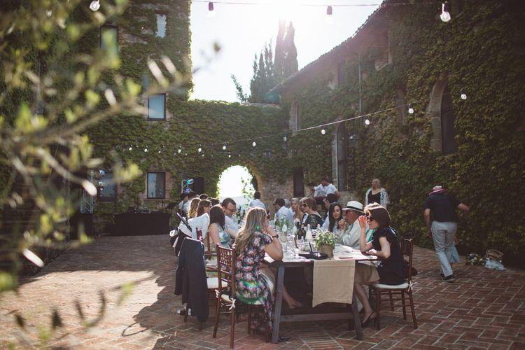 Intimate Reception | Outdoor Wedding at Borgo Bastia Creti in Italy | Paolo Ceritano Photography
