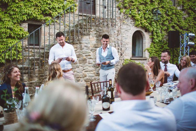 Wedding Speeches | Outdoor Wedding at Borgo Bastia Creti in Italy | Paolo Ceritano Photography