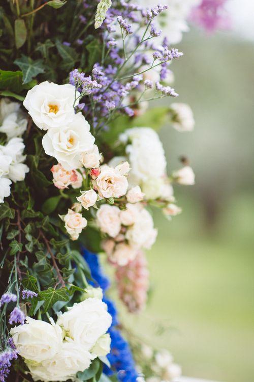 Floral Arch Wedding Flowers | Outdoor Wedding at Borgo Bastia Creti in Italy | Paolo Ceritano Photography