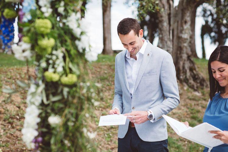 Wedding Reading | Outdoor Wedding at Borgo Bastia Creti in Italy | Paolo Ceritano Photography