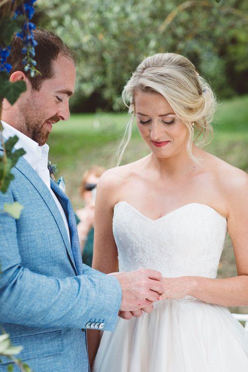 Wedding Ceremony | I Dos | Bride in Lyn Ashworth Gown | Outdoor Wedding at Borgo Bastia Creti in Italy | Paolo Ceritano Photography