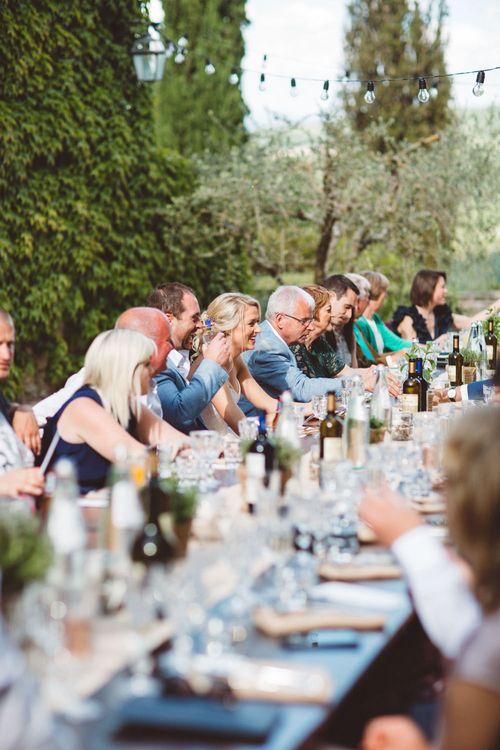Reception Tablescape | Outdoor Wedding at Borgo Bastia Creti in Italy | Paolo Ceritano Photography