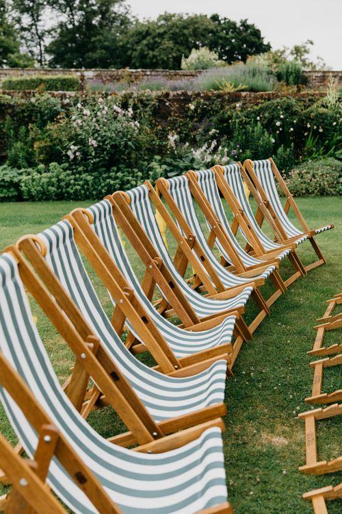 Deckchairs For Outdoor Wedding Ceremony