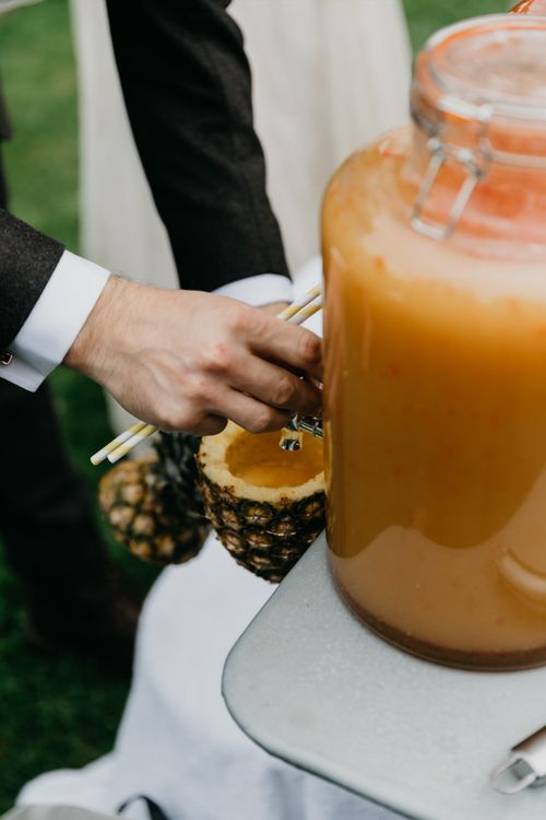 Wedding Cocktails In Pineapples