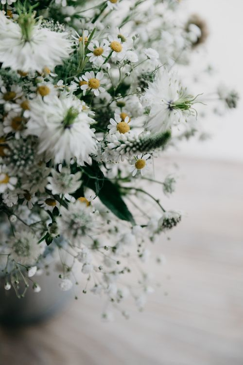 Love In A Mist & Daisies For Wedding Bouquet