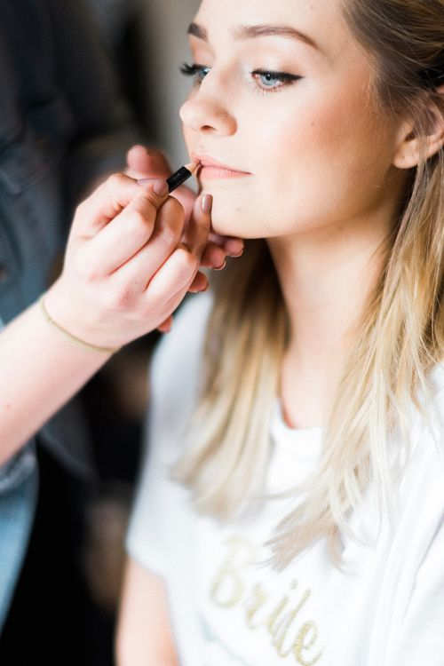 Bridal Makeup | Romantic Pastel Wedding at Prested Hall, Essex | Kathryn Hopkins Photography | Sugar Lens Productions