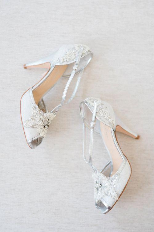 Rachel Simpson Charlotte Shoes | Romantic Pastel Wedding at Prested Hall, Essex | Kathryn Hopkins Photography | Sugar Lens Productions