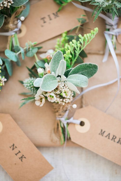 Buttonholes | Romantic Pastel Wedding at Prested Hall, Essex | Kathryn Hopkins Photography | Sugar Lens Productions