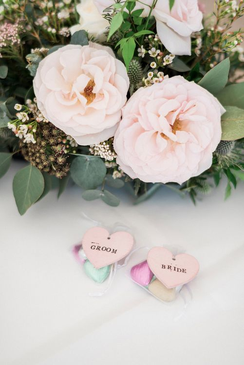 Wedding Favours | Lantern Filled Marquee Reception | Romantic Pastel Wedding at Prested Hall, Essex | Kathryn Hopkins Photography | Sugar Lens Productions