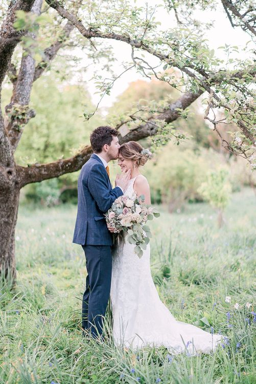Bride in Sottero & Midgley Gown | Groom in Moss Bros Suit | Romantic Pastel Wedding at Prested Hall, Essex | Kathryn Hopkins Photography | Sugar Lens Productions