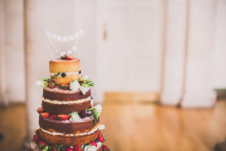Naked Sponge WEeding Cake