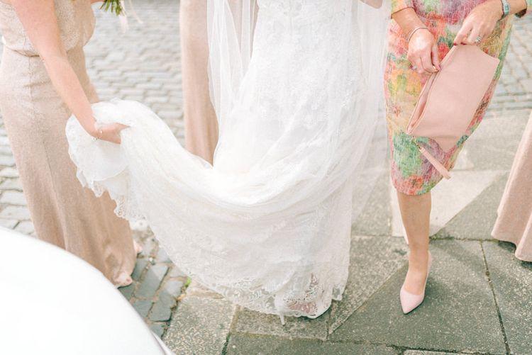 Bride in Yolan Cris Wedding Dress from Miss Bush Bridal | Pink Just Bridesmaid Dresses | Matt Ethan Photography | In House Films