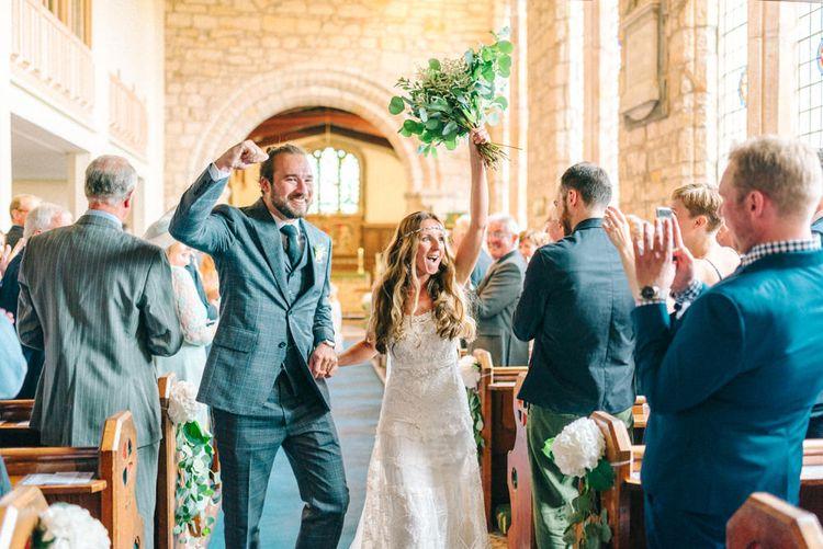 Church Wedding Ceremony | Bride in Yolan Cris Wedding Dress from Miss Bush Bridal | Matt Ethan Photography | In House Films