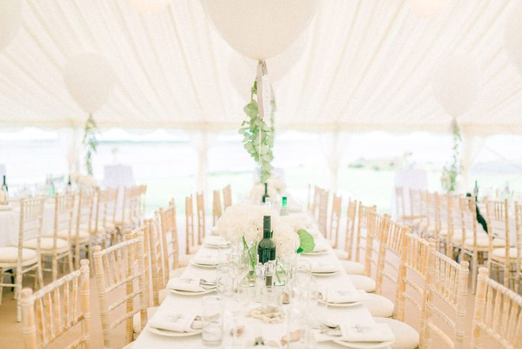 White on White Marquee with Eucalyptus | Matt Ethan Photography | In House Films