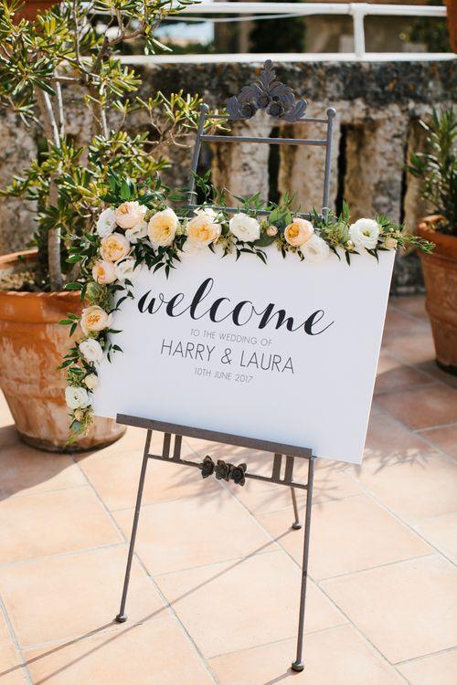 Floral Wedding Sign | Chris Barber Photography