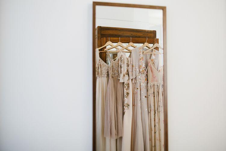 Blush Embellished Bridesmaid Dresses | Chris Barber Photography