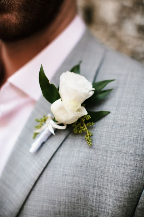 White Flower Buttonhole | Chris Barber Photography