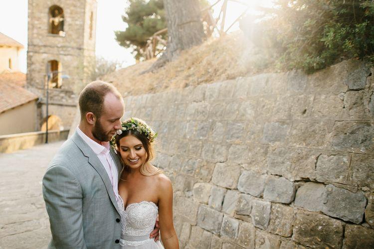 Bride in Watters Gown | Groom in Grey Reiss Suit | Chris Barber Photography