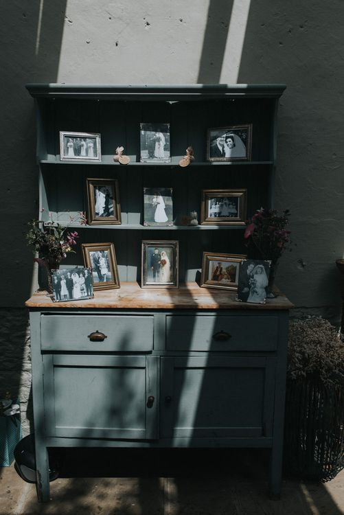 Vintage Dresser with Family Wedding Portraits