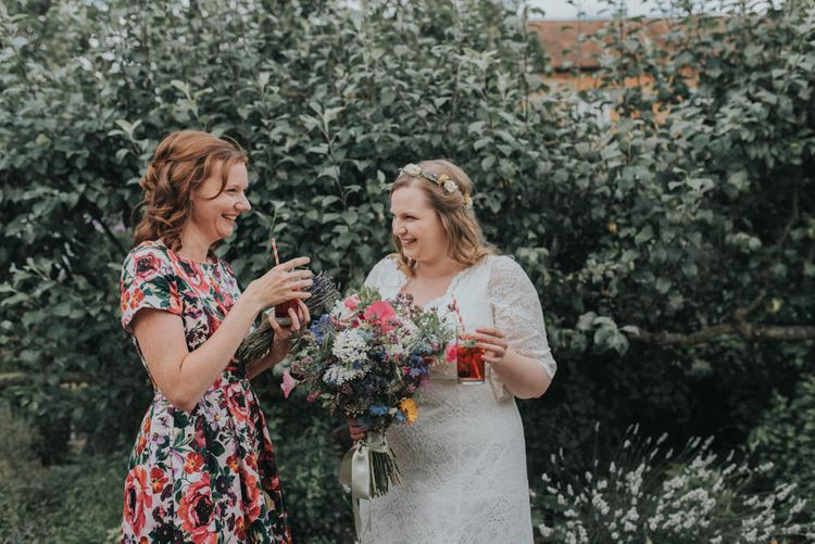 Bride & Bridesmaid in Floral Lindybob Dress