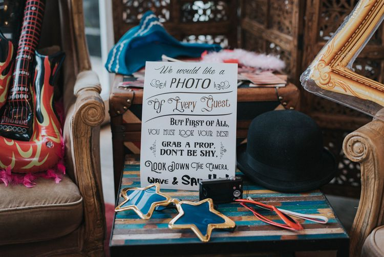 Photo Booth Props & Wedding Sign