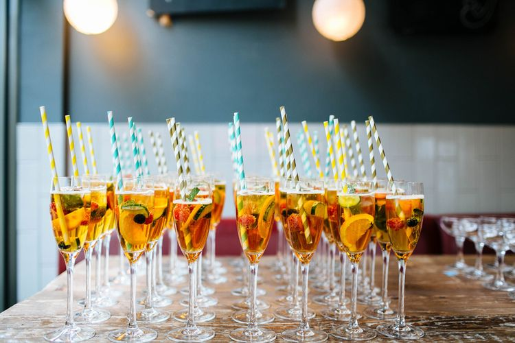 Drinks Station At Wedding