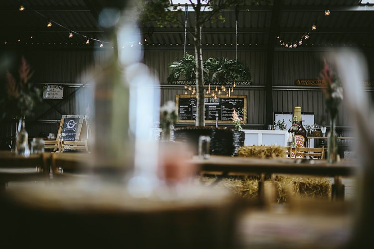 Industrial Styling For Wedding In An Aircraft Hanger
