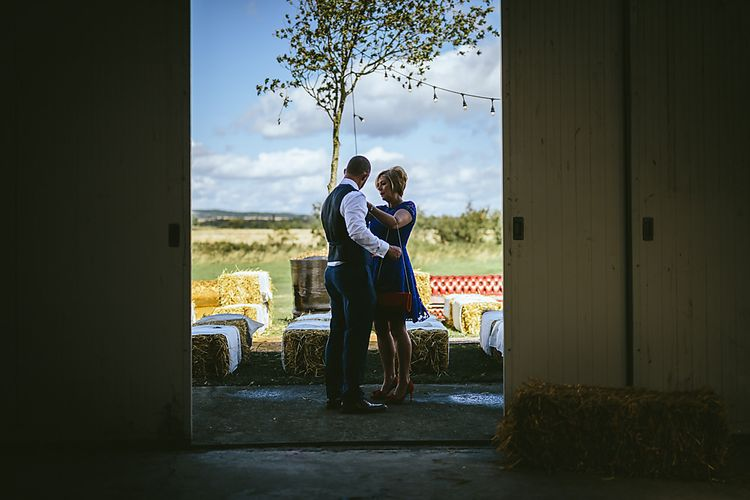 Outdoor Wedding Ceremony at Northumberland Airfield