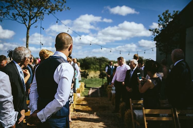 Outdoor Wedding Ceremony For A Northumberland Airfield Wedding