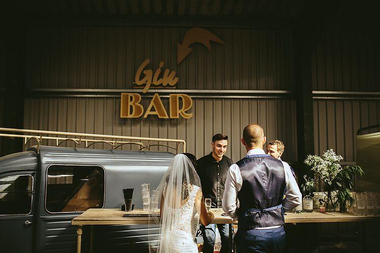 Gin Bar At Wedding