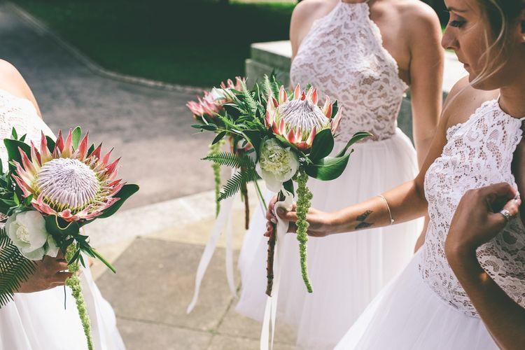 Protea Wedding Bouquets For Bridesmaids