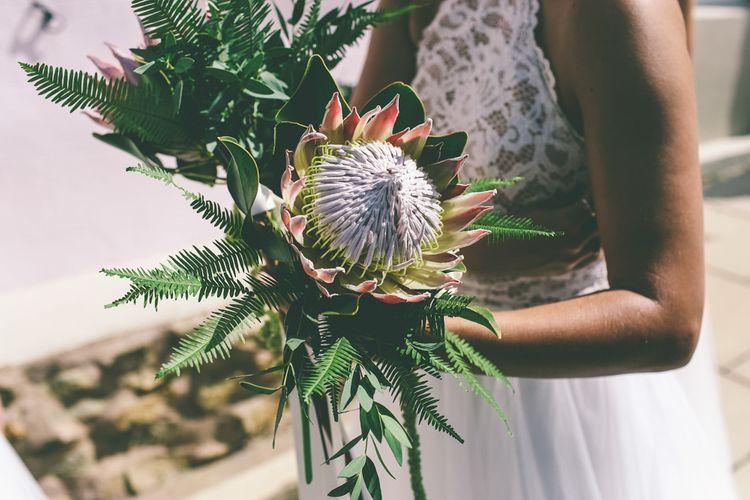 Protea Wedding Bouquet For Bridesmaids