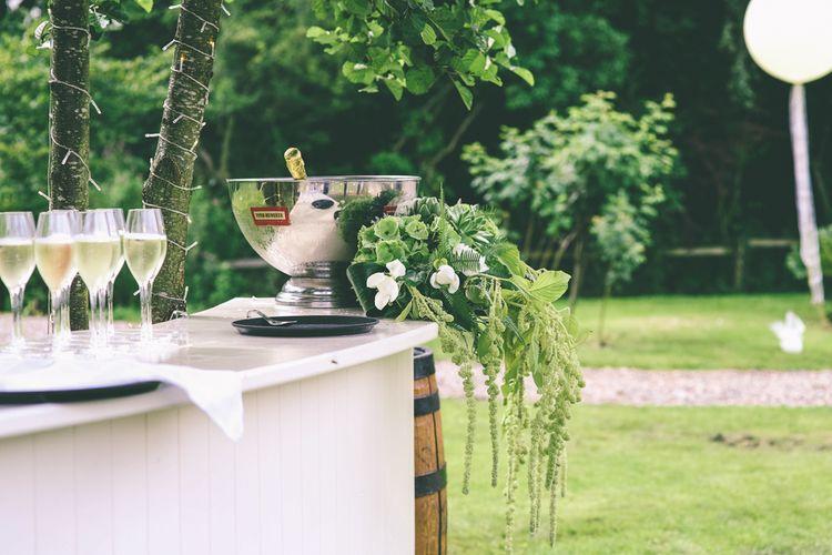Bar At Wedding With Foliage & Greenery