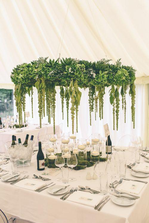 Foliage Chandelier For Wedding Reception