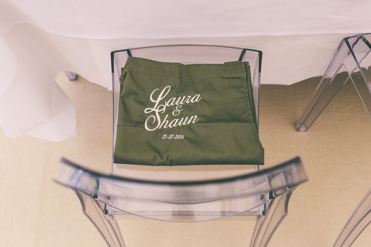 Green Table Apron For Wedding Guest