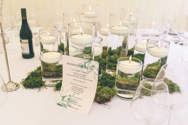 Foliage & Candle Wedding Decor