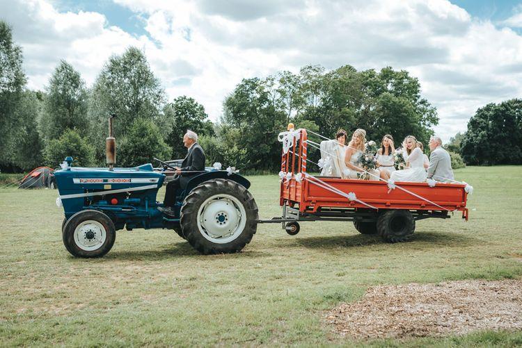 Tractor & Trailer Wedding Transport