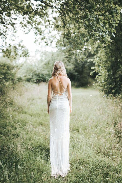 Bride in Boho Spell & Gypsy Wedding Dress