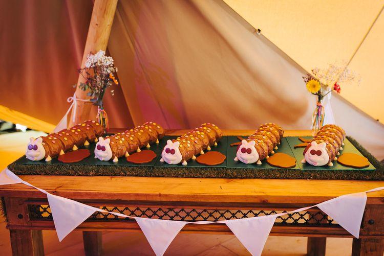 Colin the Caterpillar Wedding Cakes
