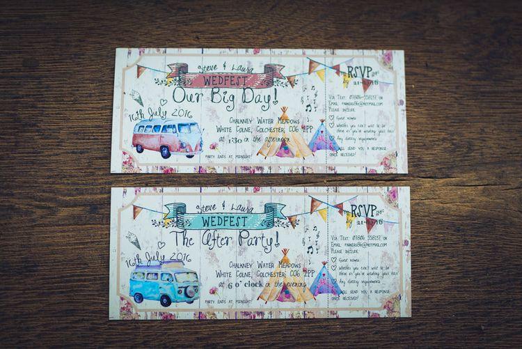 The Invite Shack Festival Wedding Stationery