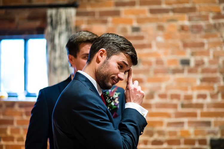 Groomsmen in Peter Posh Suit | Autumn Rustic Wedding at Curradine Barns | Jo Hastings Photography