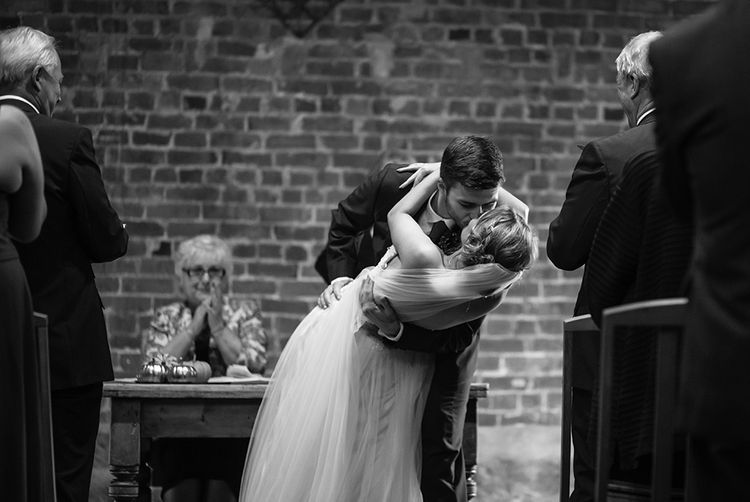 First Dance | Bride in Sottero & Midgely Emsley Gown | Groom in Peter Posh Suit | Autumn Rustic Wedding at Curradine Barns | Jo Hastings Photography