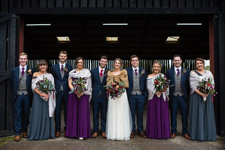 Wedding Party | Autumn Rustic Wedding at Curradine Barns | Jo Hastings Photography