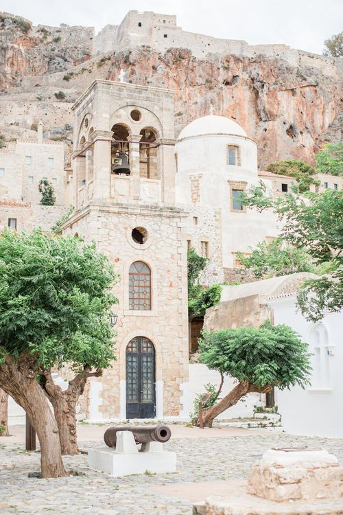 Intimate Outdoor Destination Wedding at Kinsterna Hotel & Spa in Greece   Cecelina Photography
