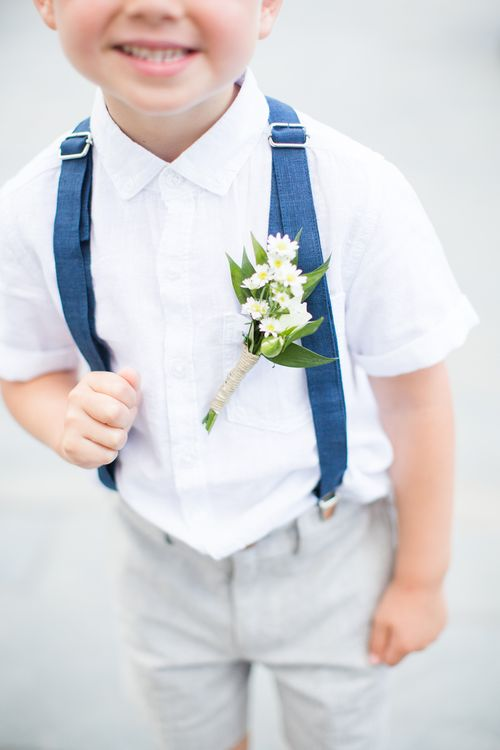 Page Boy Buttonhole   Intimate Outdoor Destination Wedding at Kinsterna Hotel & Spa in Greece   Cecelina Photography