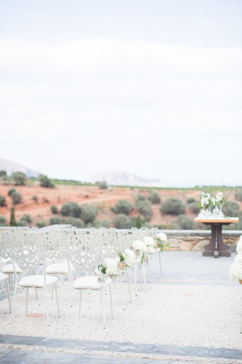 Aisle & Altar   Intimate Outdoor Destination Wedding at Kinsterna Hotel & Spa in Greece   Cecelina Photography