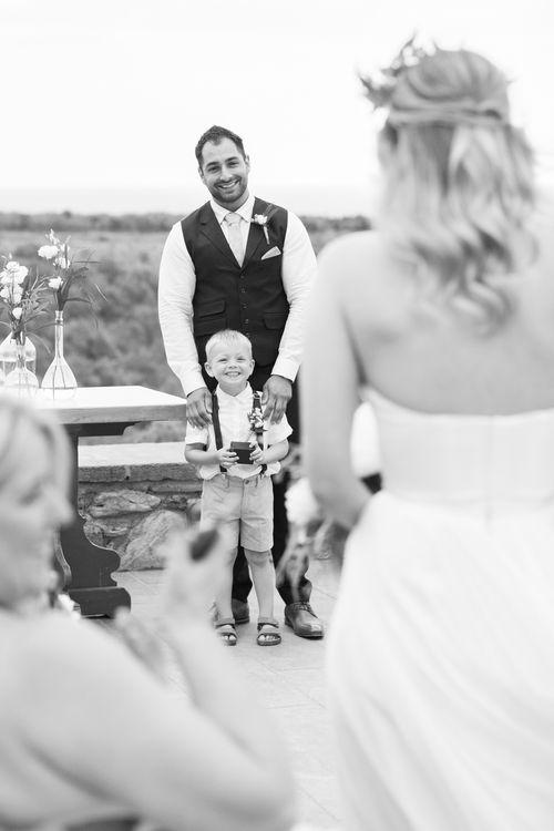 Wedding Ceremony   Intimate Outdoor Destination Wedding at Kinsterna Hotel & Spa in Greece   Cecelina Photography