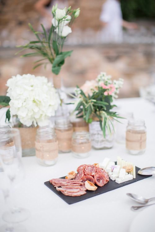 Serving Platter   Intimate Outdoor Destination Wedding at Kinsterna Hotel & Spa in Greece   Cecelina Photography