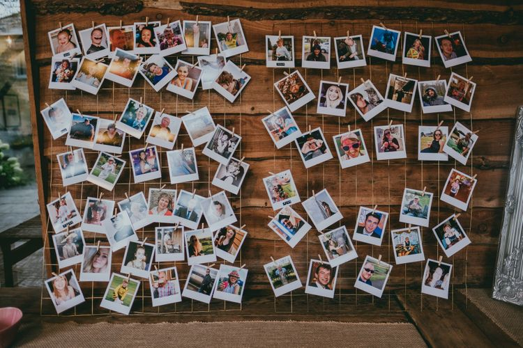Polaroid Picture Table Plan | Rustic Barn Pink Summer Wedding at Nancarrow Farm in Cornwall | Ross Talling Photography