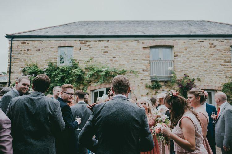 Rustic Barn Pink Summer Wedding at Nancarrow Farm in Cornwall | Ross Talling Photography